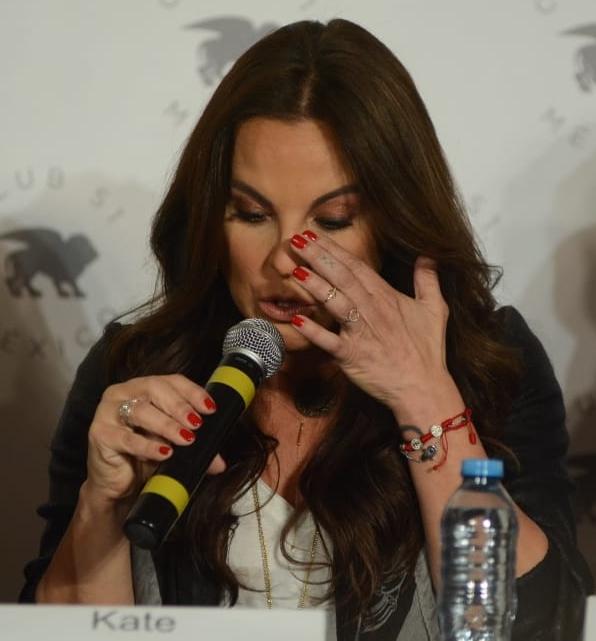 Durante la conferencia de prensa, Kate del Castillo habló de su sentir al regresar a México. Foto: Ricardo Cristino