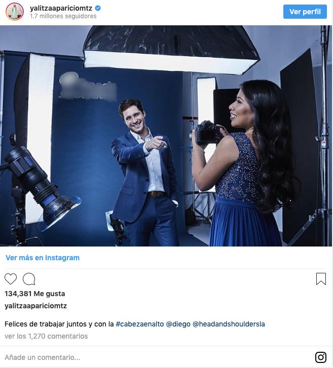 Yalitza Aparicio y Diego Boneta trabajando juntos.