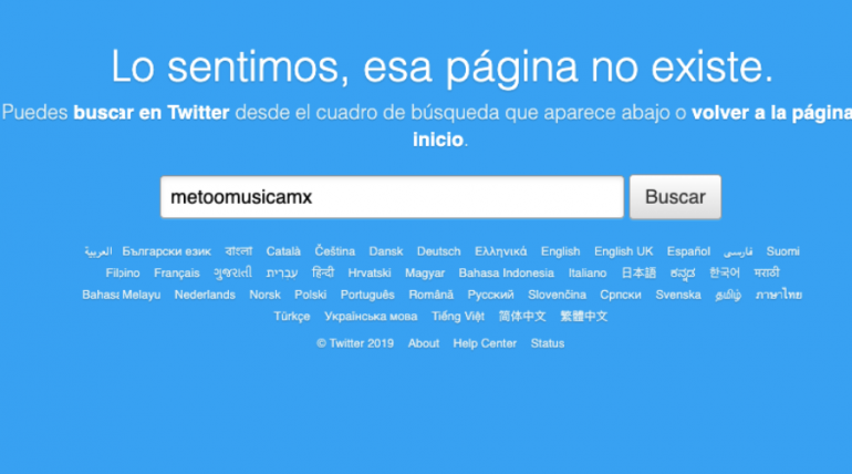 Eliminan cuenta de Twitter que denunciaba acoso en el mundo de la música mexicana