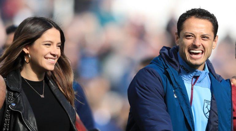 Sarah Kohan, Javier Hernández. Foto: Getty Images