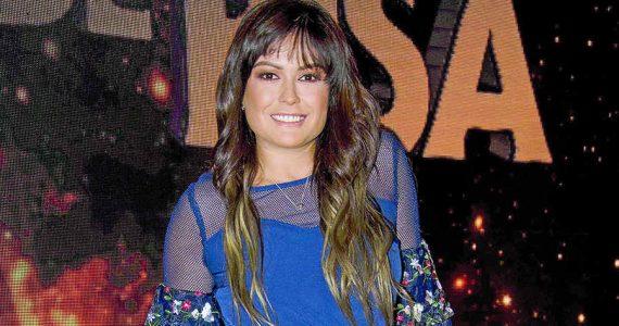 Mariana Echeverría presume su pancita de embarazo Foto: Javier Arellano