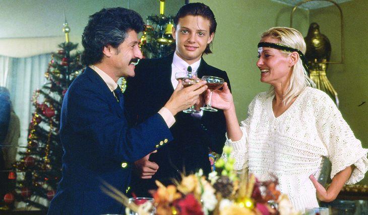 Luis Rey, Luis Miguel y Marcela Basteri. Foto: Archivo