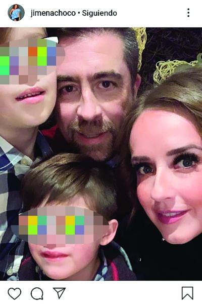 """Jimena Pérez """"La Choco"""" y su familia. Foto: Instagram"""