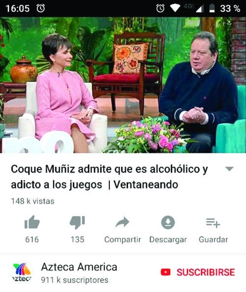 Coque Muñiz. Foto: YouTube Ventaneando