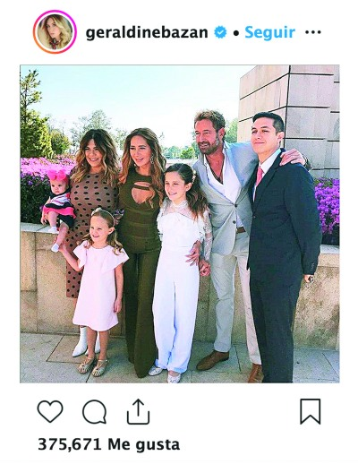 Primera comunión Elissa Marie. Foto: Instagram Geraldine Bazán