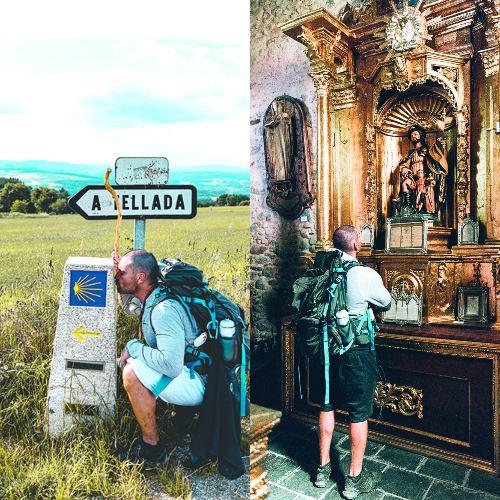 EL RECORRIDO. Existen distintas rutas para llegar, pero él tomó el Camino Francés, donde cruzas por cerca de nueve municipios del norte de España. Foto: @REYLUIS