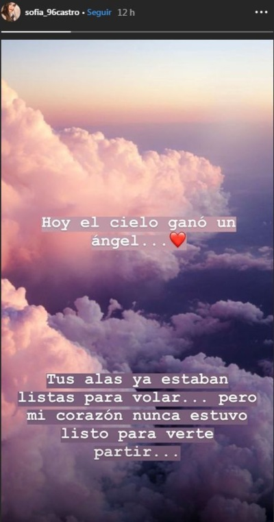 Sofía Castro. Foto: Instagram @sofia_96castro