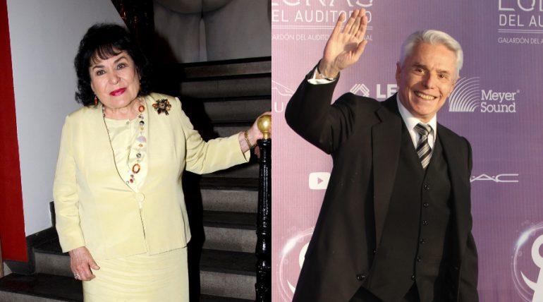 Carmen Salinas, Enrique Guzmán. Fotos: Javier Arellano, Edson Vázquez