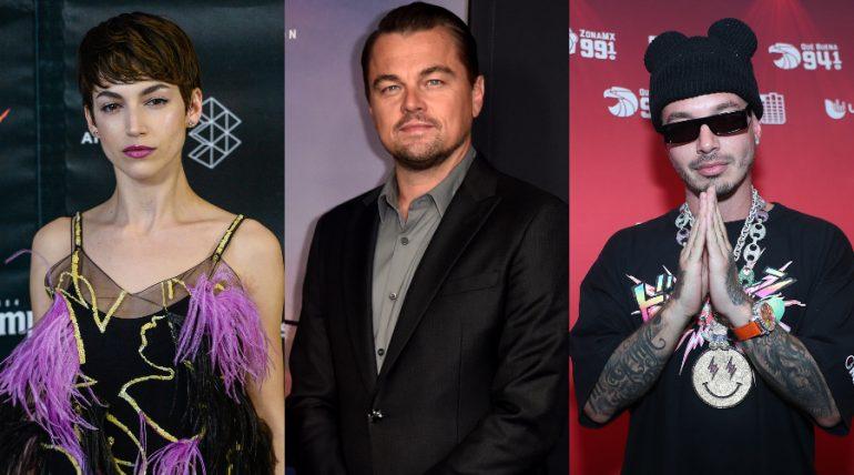 Úrsula Corberó, Leonardo DiCaprio, J. Balvin. Fotos: Getty Images