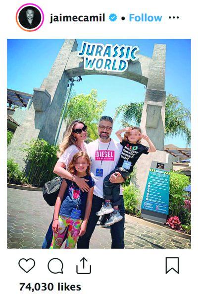 Jaime Camil y familia. Foto: Instagram