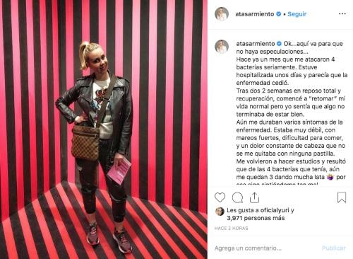 Atala Sarmiento. Foto: Instagram