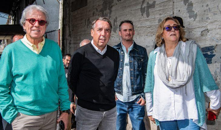 Emilio Azcárraga y Patricio Wills visitaron la producción de La Usurpadora. Foto: Cortesía Televisa