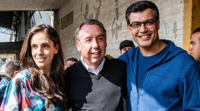 Emilio Azcárraga visitó la producción de La Usurpadora. Foto: Cortesía Televisa