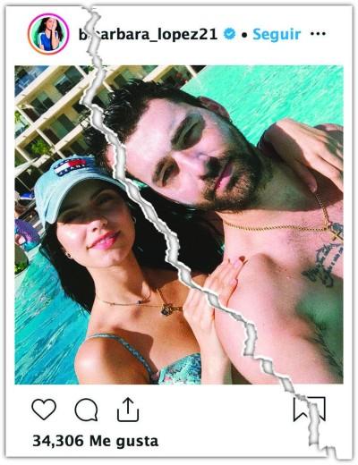Bárbara López y Gonzalo Peña. Foto: Instagram