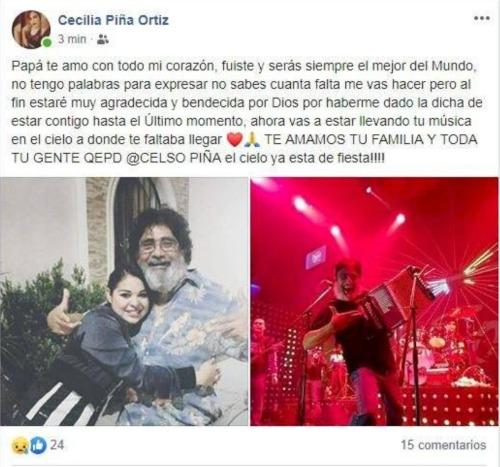 Celso Piña. Foto: Facebook Cecilia Piña