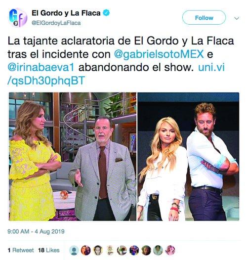 Foto: Instagram El Gordo y la Flaca