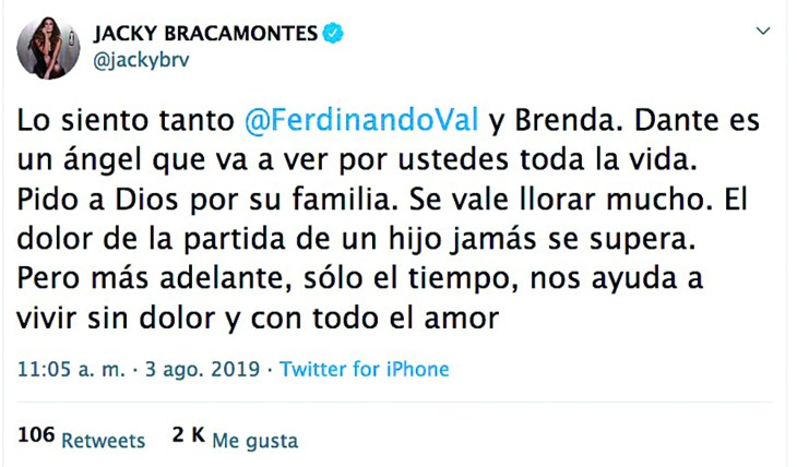 Jacky Bracamontes. Foto: Twitter