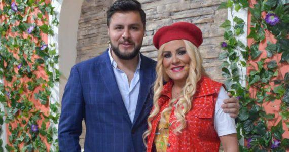 Roxana Castellanos y Paul Stanley. Foto: Jaime Nogales