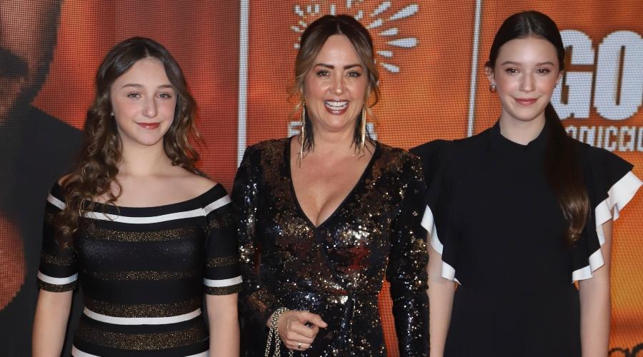 Nina Rubín Legarreta, Andrea Legarreta, Mía Rubín Legarreta. Foto: Getty Images