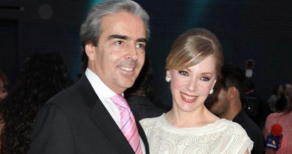Lorenzo Lazo y Edith González. Foto: Getty Images