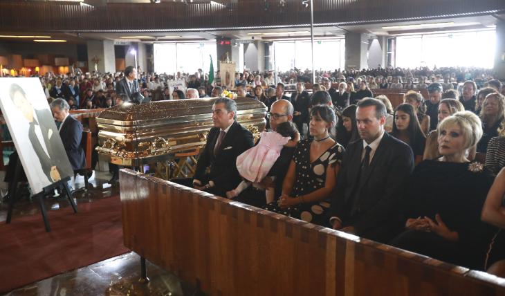 Misa en memoria de José José en la Basilica de Guadalupe. Foto: Héctor García