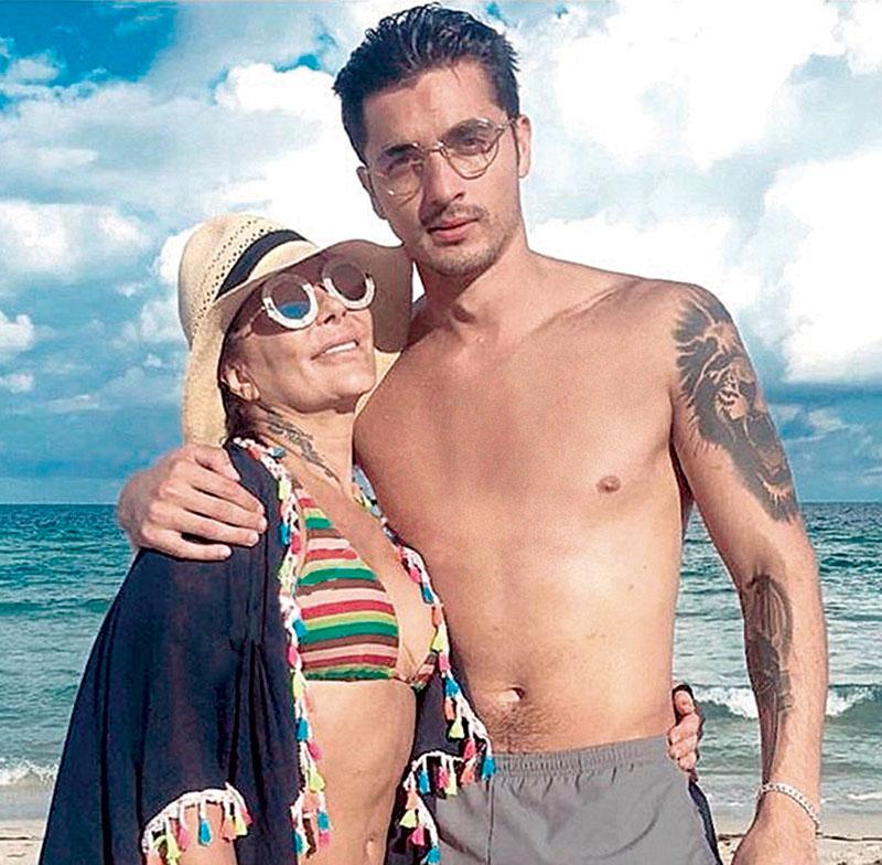 Christian Estrada y Alejandra Guzmán | Foto: Cortesía