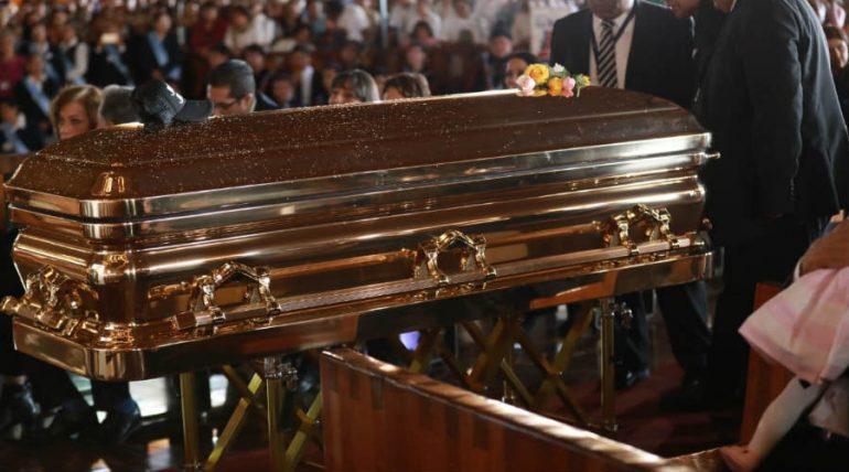Ataúd de José José. Foto: Héctor García