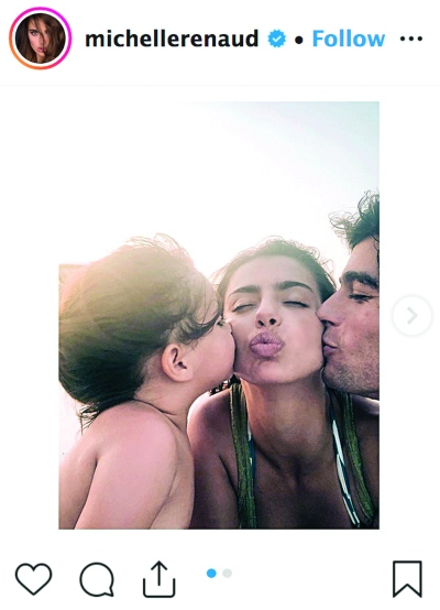 Marcelo, Michelle Renaud y Danilo Carrera. Foto: Instagram