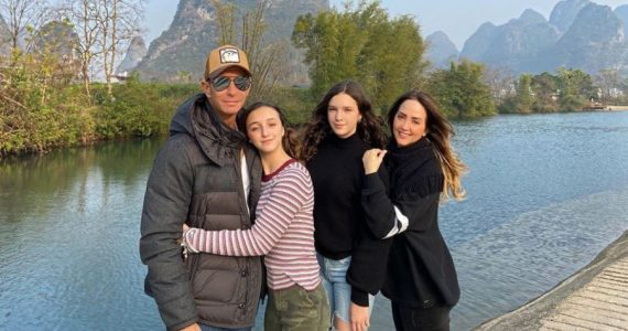 Andrea Legarreta y familia, viaje a China. Foto: Instagram @andrealegarreta