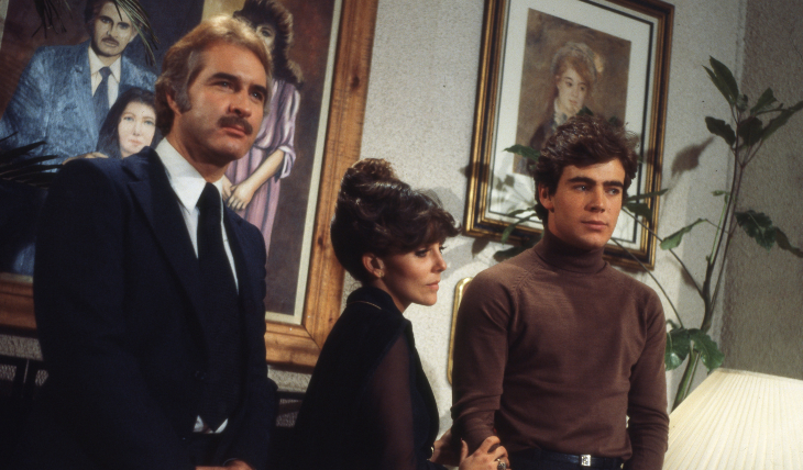 Rogelio Guerra, Verónica Castro y Guillermo Capetillo en Los ricos también lloran. Foto: Archivo