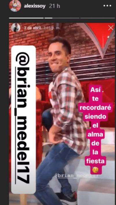 Bebeshita dedica mensaje a Brian Del Prado. Foto: Instagram