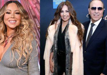 Mariah Carey, Thalía y Tommy Mottola. Foto: Getty Images
