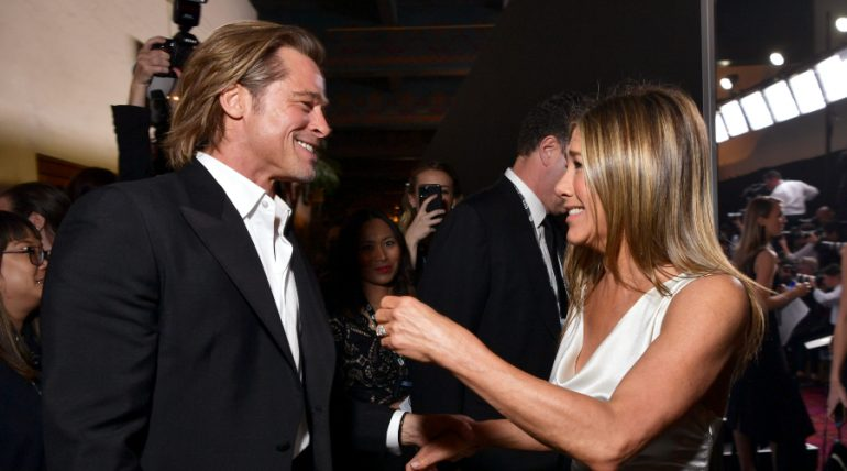 Brad Pitt y Jennifer Anistonen los Screen Actors Guild Awards. Fotos: Getty Images