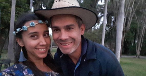 Gabriela Baraja y Jorge Navarro. Foto: Facebook