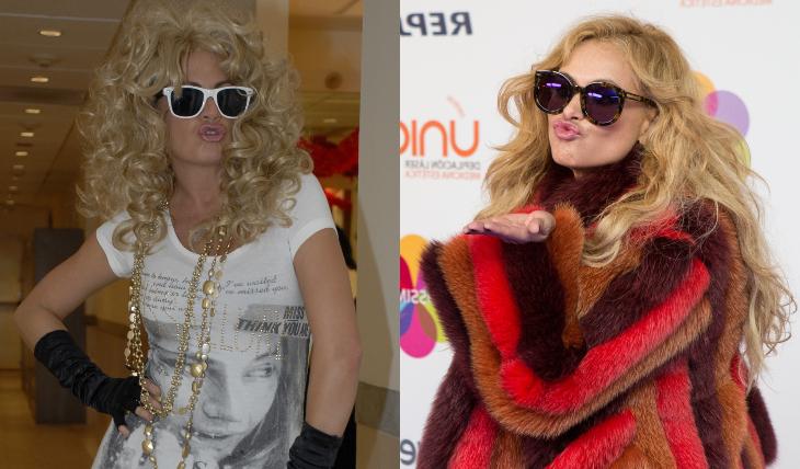 Pau, la imitación vs. Paulina, la original. Fotos: Archivo / Getty Images