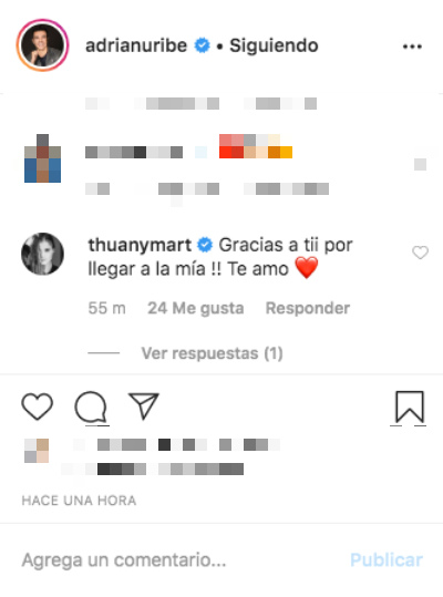 Adrián Uribe envía mensaje a Thuany Martins. Foto: Instagram