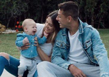 """Javier """"Chicharito"""" Hernández, Sarah Kohan y el pequeño Noah. Foto: Instagram"""