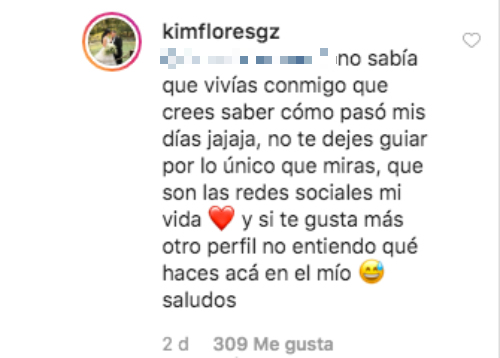 Kimberly Flores. Foto: Instagram