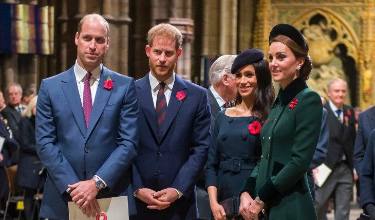 Duques de Cambridge y Sussex. Foto: Getty Images