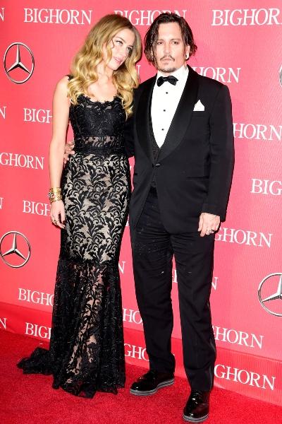 Amber Heard y Johnny Depp en enero de 2016. Foto: Getty Images