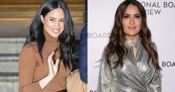 Meghan Markle y Salma Hayek. Fotos: Getty Images