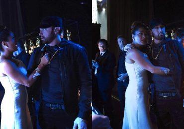 Salma Hayek y Eminem. Fotos: Getty Images