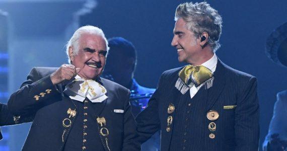 Vicente y Alejandro Fernández. Foto: Getty Images