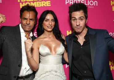 Eugenio Derbez, Aislinn y Mauricio Ochmann. Foto: Getty Images
