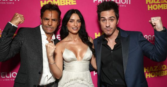Eugenio Derbez, Aislinn y Mauricio Ochmann. Foto: Getty Images