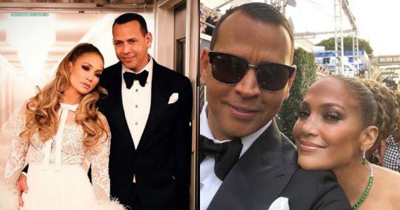 Jennifer Lopez y Alex Rodriguez. Instagram @arod