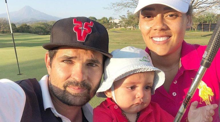 Ferdinando Valencia, Brenda Kellerman y Baby Tadeo. Foto: Instagram