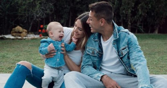 Sarah Kohan, Noah y Javier Hernández. Foto: Instagram @sarahkohan