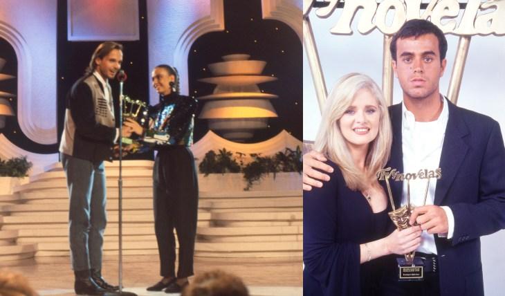 Miguel Bosé y Enrique Iglesias en Premios TVyNovelas. Foto: Archivo TVyNovelas