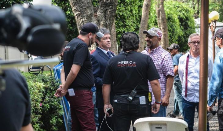 Por seguridad, paran grabaciones de la telenovela Imperio de Mentiras por covid-19. Foto: Televisa